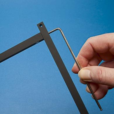 Fork sensor handling: Loosen screw